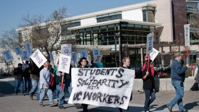 UC workers protest terms of new UC contract