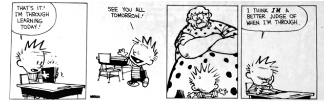 Edumacation with Calvin and Hobbes: The Institution | The Aggie