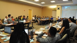 KDVS staff sits-in at ASUCD senate budget hearings today following cuts