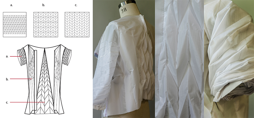 The Enfold jacket was designed using origami techniques and shape memory alloy wires. (HELEN KOO / COURTESY)