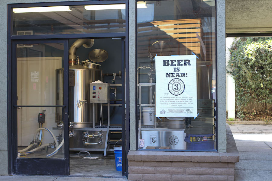 3 Mile Brewery opening on 231 G. St. in Davis, CA opens late February. (MONICA CHAN / AGGIE)