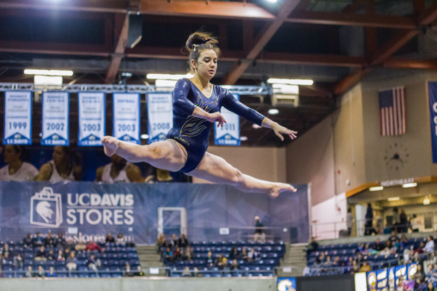 Women's Gymnastics beams through competition at home meet