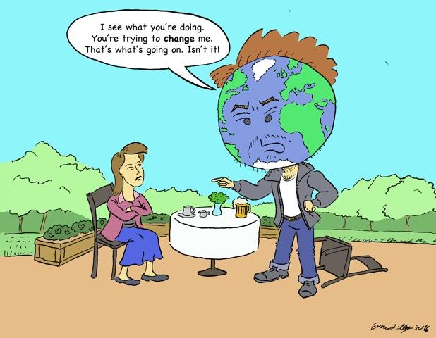 Evan Lilley Cartoon: Change the Earth