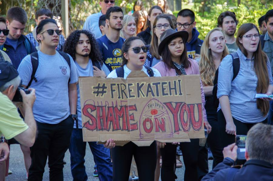 #FireKatehi Supporters hold a three-part protest at the Memorial Union, Mrak Hall