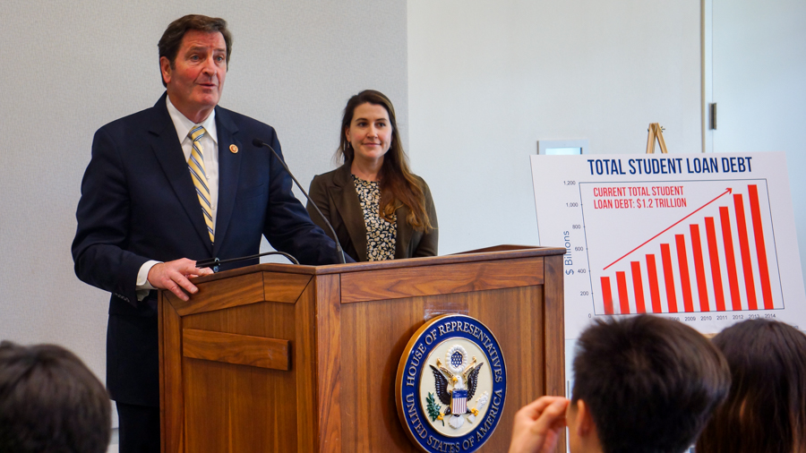 Congressman John Garamendi introduces Student Loan Reform Bill at UC Davis