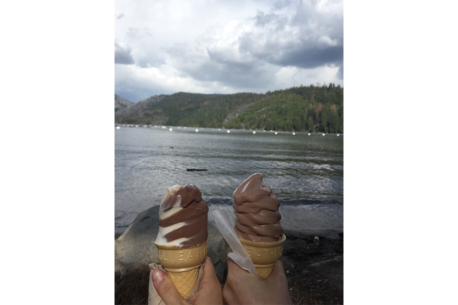 Returned to a place I used to hike and eat ice cream at every year when I was little. Not much has changed except for the fact that a few more years than usual went by, and I'm lactose intolerant now. Still ate the ice cream, though. (ARIEL ROBBINS)