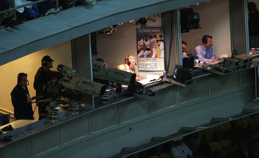 Scully's last game to be aired in full on LA stations