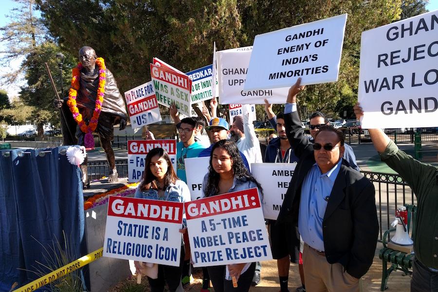 Gandhi statue ignites controversy in Downtown Davis