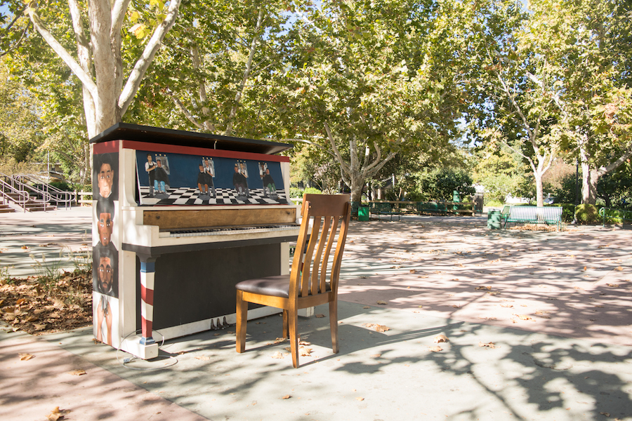 Downtown Davis receives artsy public pianos