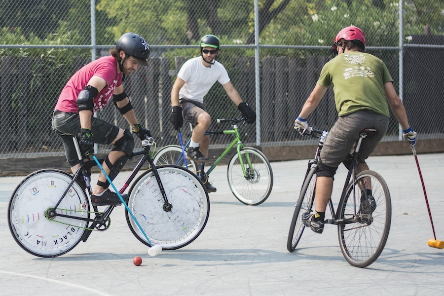 Hold your horses, bike polo is in town