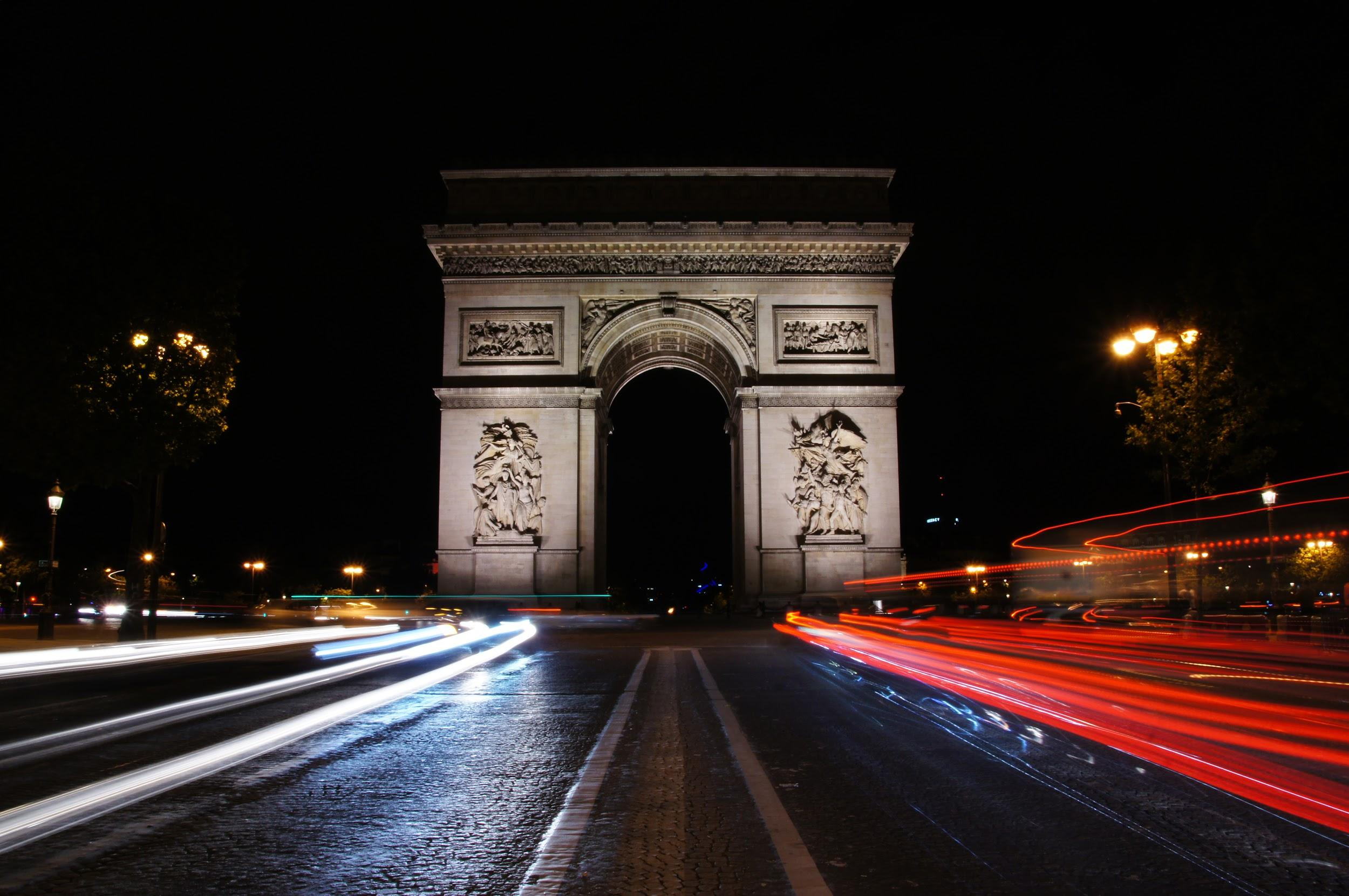 "I spent part of my summer studying abroad in France. I decided to stay an extra week after the program in order to fully enjoy my trip while capturing photos that I had been dying to take. This one in particular was taken the night before I flew back to California. Across from the Arc de Triomphe was a small ""safe"" space in the middle of the street for people to stand in in order to take photos with its entirety. I obviously had to take advantage of that; jumping into the middle of traffic was worth it for this photo. (BRIANA NGO)"