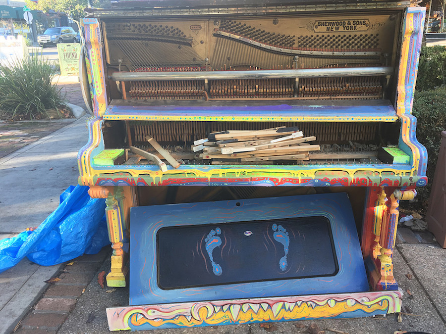 Public piano destroyed in act of vandalism