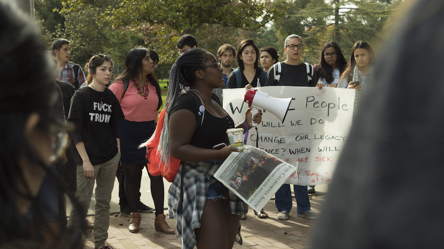 Students hold anti-Trump rally at Memorial Union