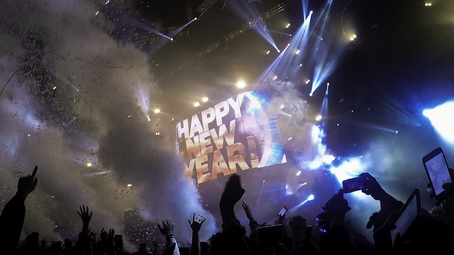 Instead of waiting for the ball to drop, we waited for the bass to drop at Countdown NYE. (BRIANA NGO)