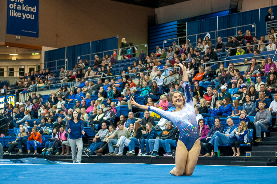 Women's gymnastics soar in three events at opener