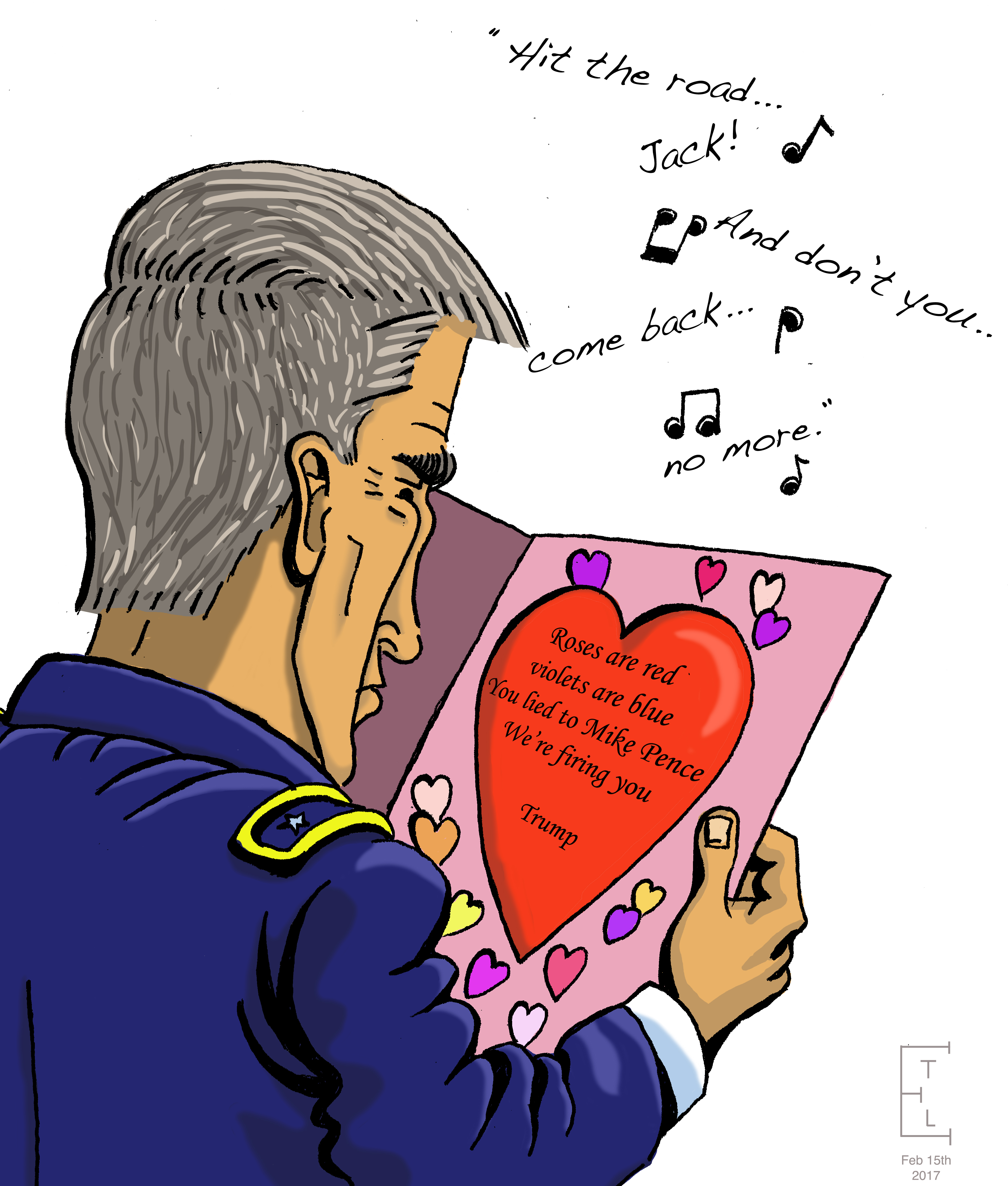 Cartoon: Michael Flynn gets a Valentine