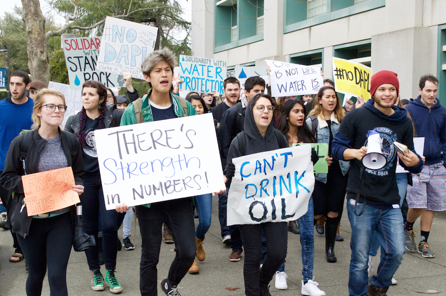 UC Davis students participate in UC-wide #NoDAPL day of action