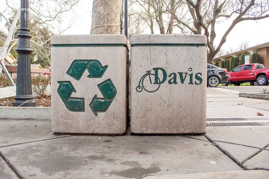 City of Davis awarded funds for new recycling bins