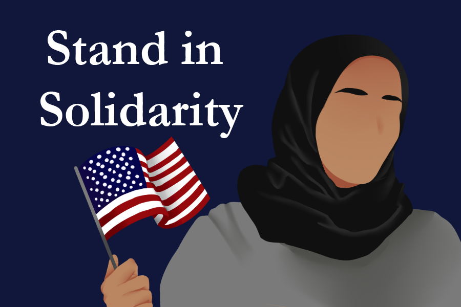 Davis stands with Muslim residents