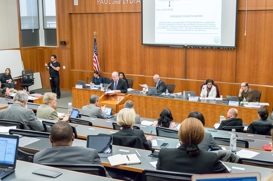 California Public Utilities Commission holds bi-monthly voting meeting at UC Davis