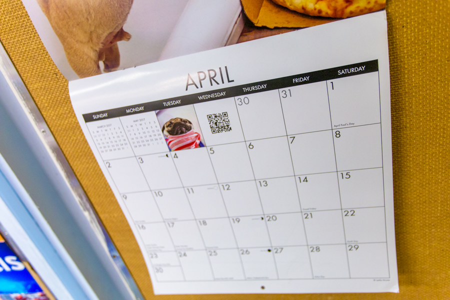 End of April Events Calendar
