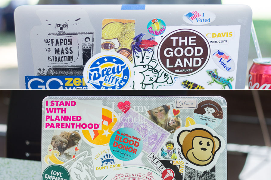 Laptop stickers a platform for personalization
