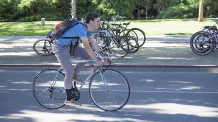 Humor: Wind God deliberately blows harder while student tries to bike home
