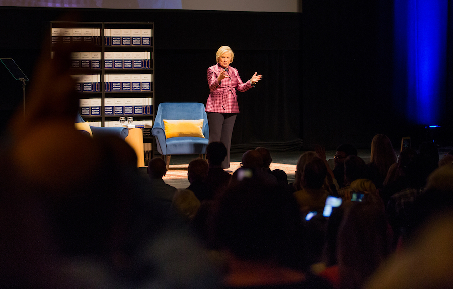 Hillary Clinton gives speech at UC Davis