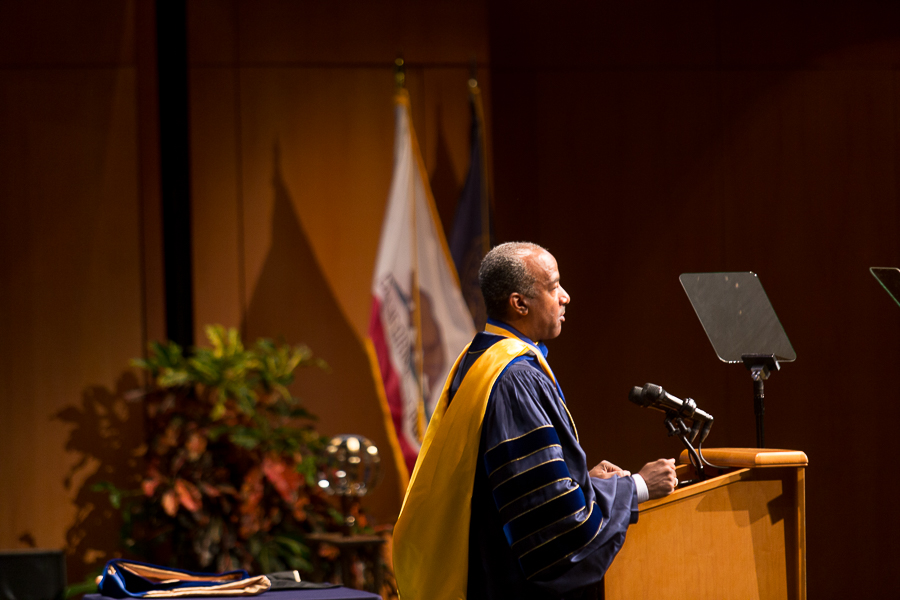 Investiture of Chancellor Gary May kicks off Homecoming weekend