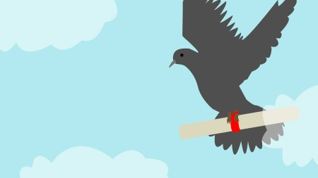 Humor: Yikes! Student drunkenly sends carrier pigeon to crush