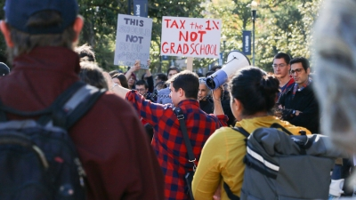 UC Davis students part of nationwide protest over proposed graduate tuition tax in GOP tax plan