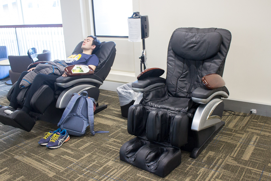 Humor: UC Davis apologizes for raising fees by gifting students two awkwardly-placed massage chairs in the MU