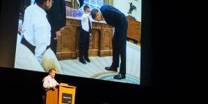 Former Chief Official White House Photographer Pete Souza speaks at Mondavi Center