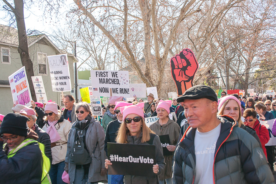 photograph about Printable Signs for Women's March called Posters of the 2018 Sacramento Womens March - The Aggie