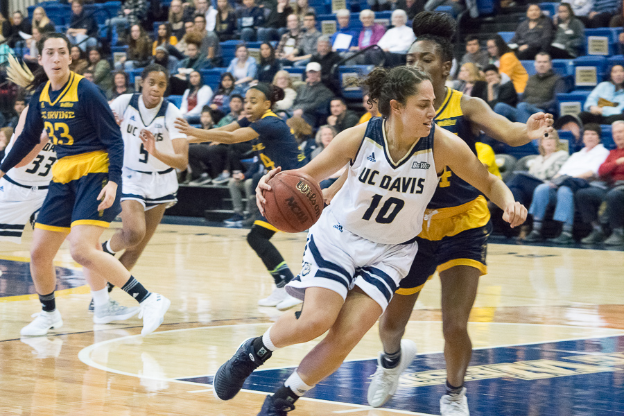 Women's basketball downs UC Irvine, clinches conference