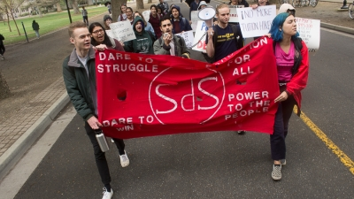 Students gather at SCC to protest tuition hike