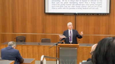 King Hall Speech Focuses on White Nationalism and Immigration