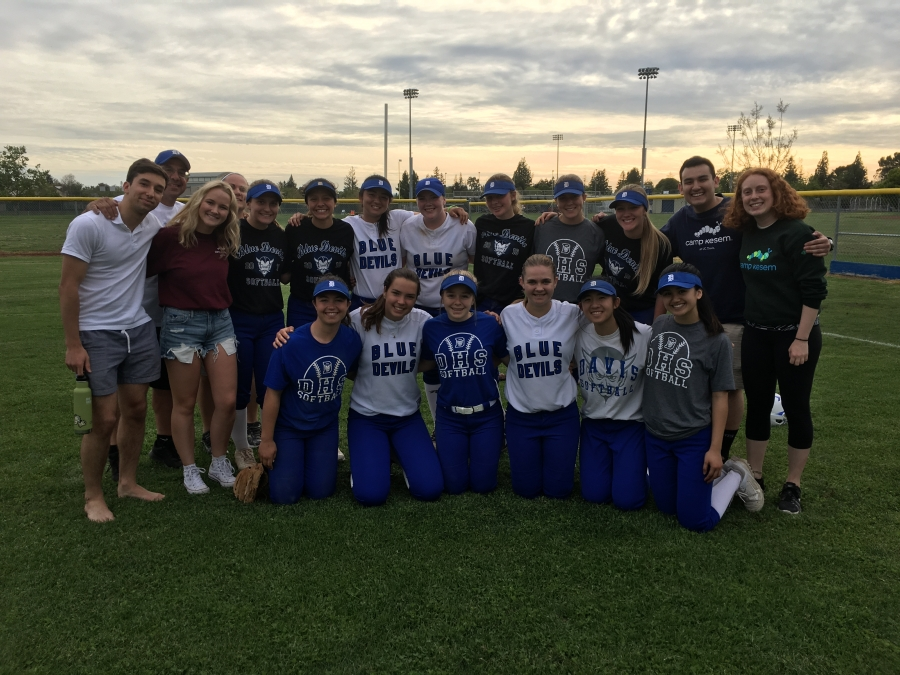 Davis comes together for softball in support of Camp Kesem