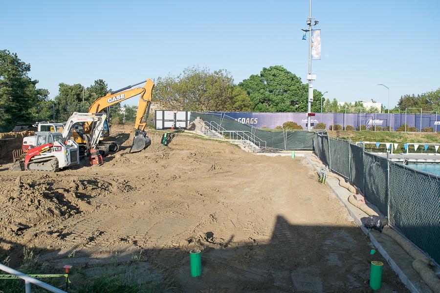 Construction underway at Schaal Aquatic Center