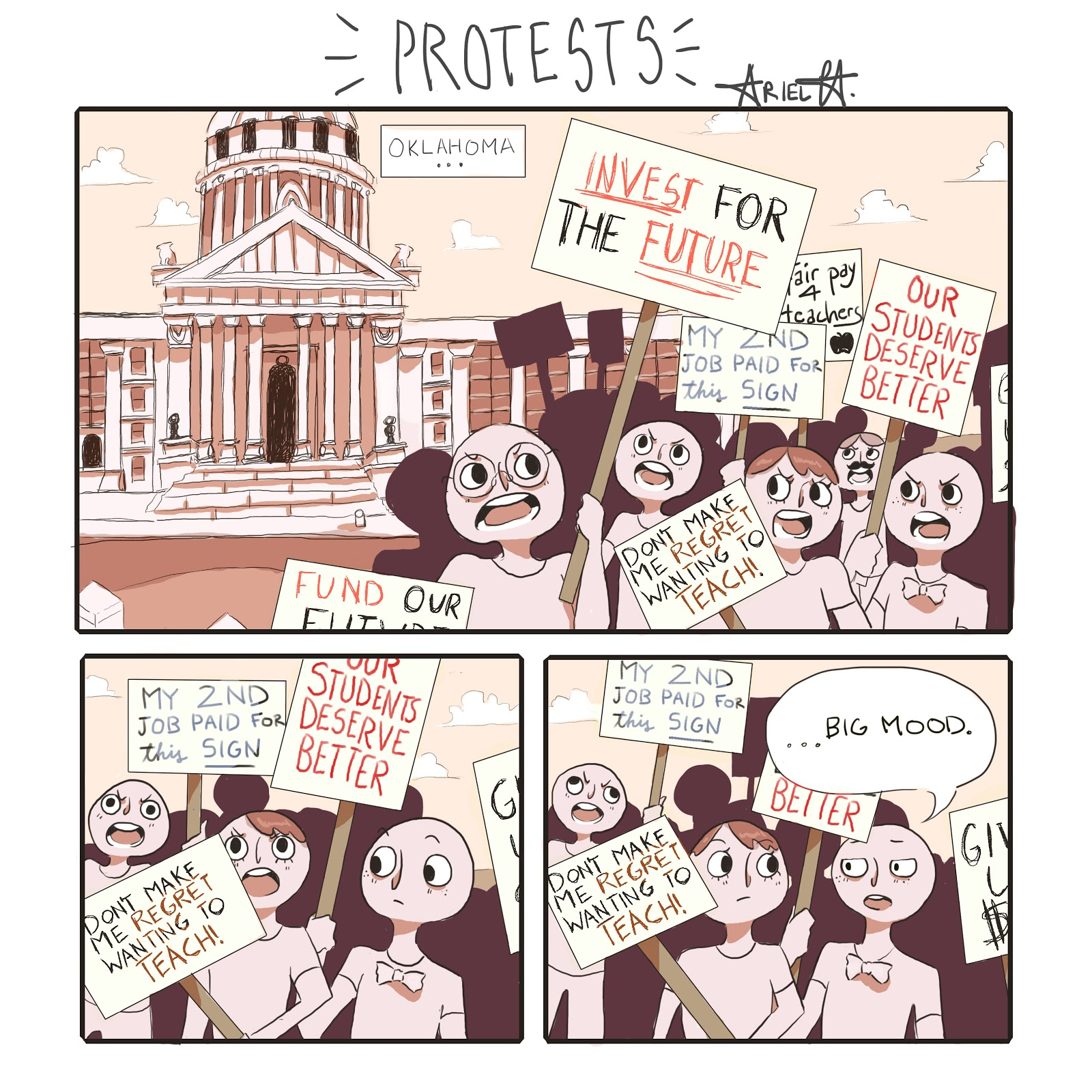 Cartoon: Protests