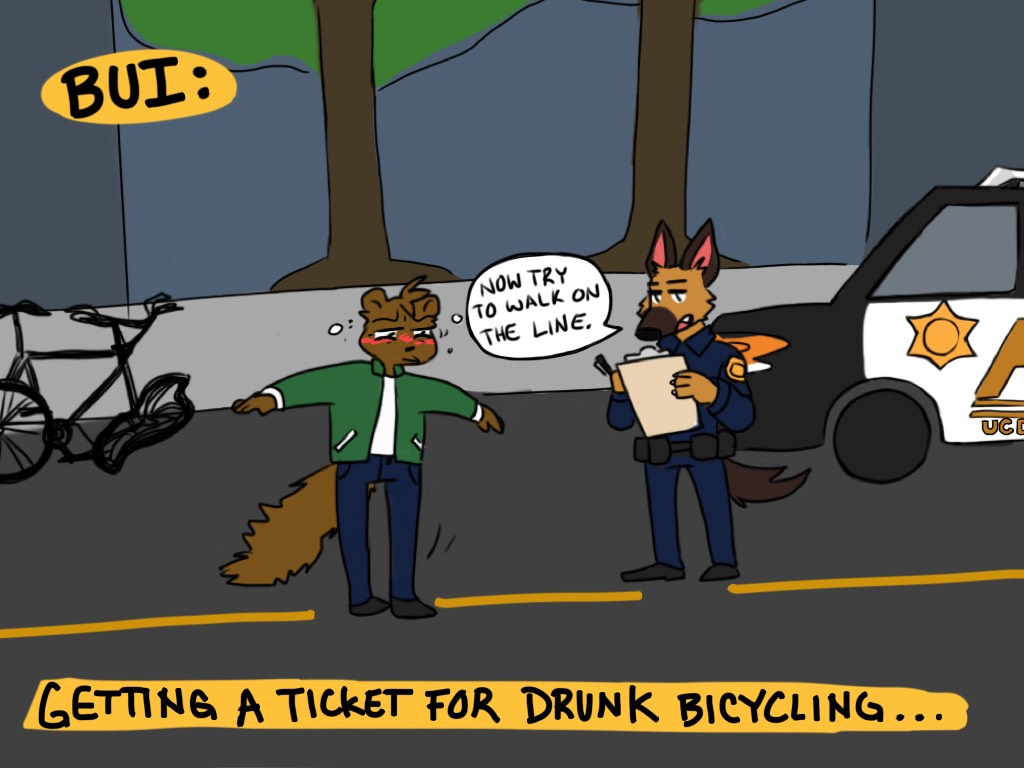 Cartoon: Don't Drink and 'Cycle
