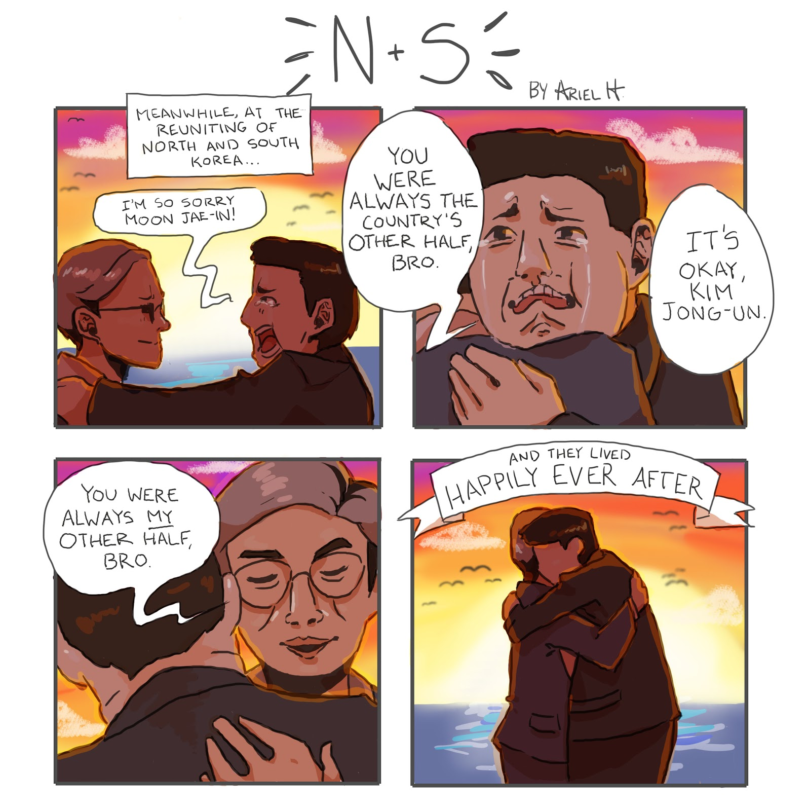 Cartoon: N + S