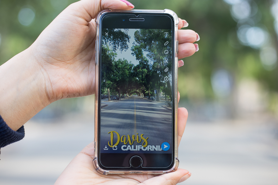 "Best Snapchat Filter: Cursive ""Davis, CA"""