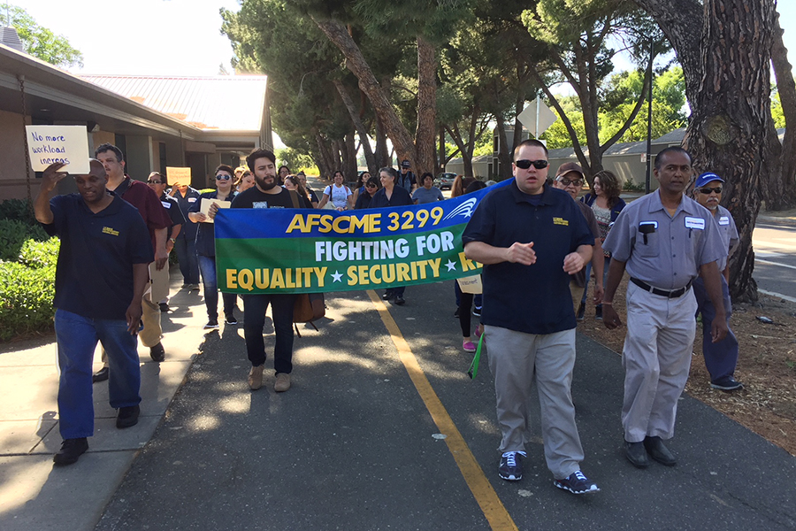 UC Davis custodians protest management treatment
