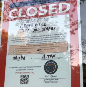 Crepeville closed due to insect, rodent infestation