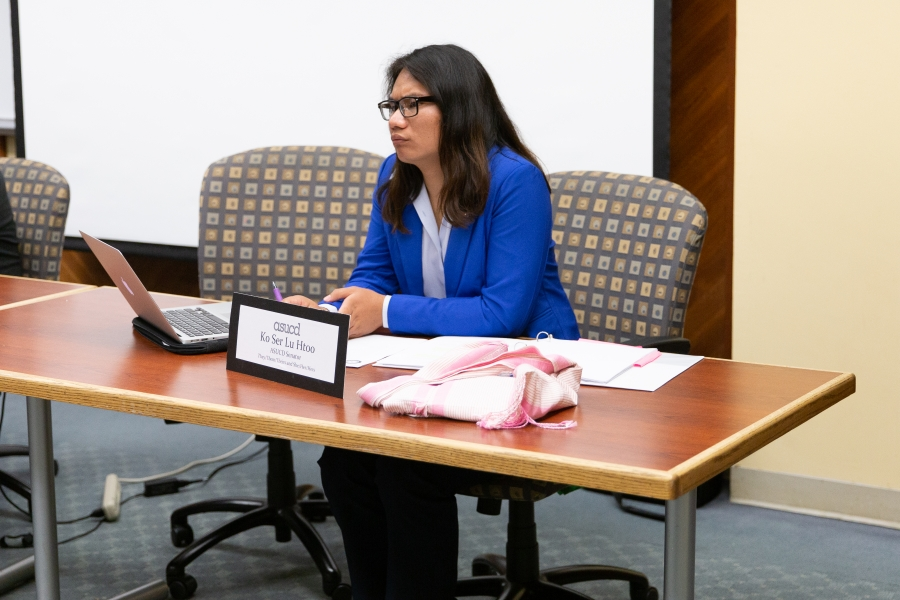 ASUCD senator announces opposition to working with president
