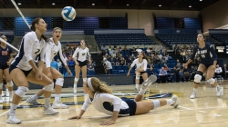 Volleyball bounces back with a pair of wins