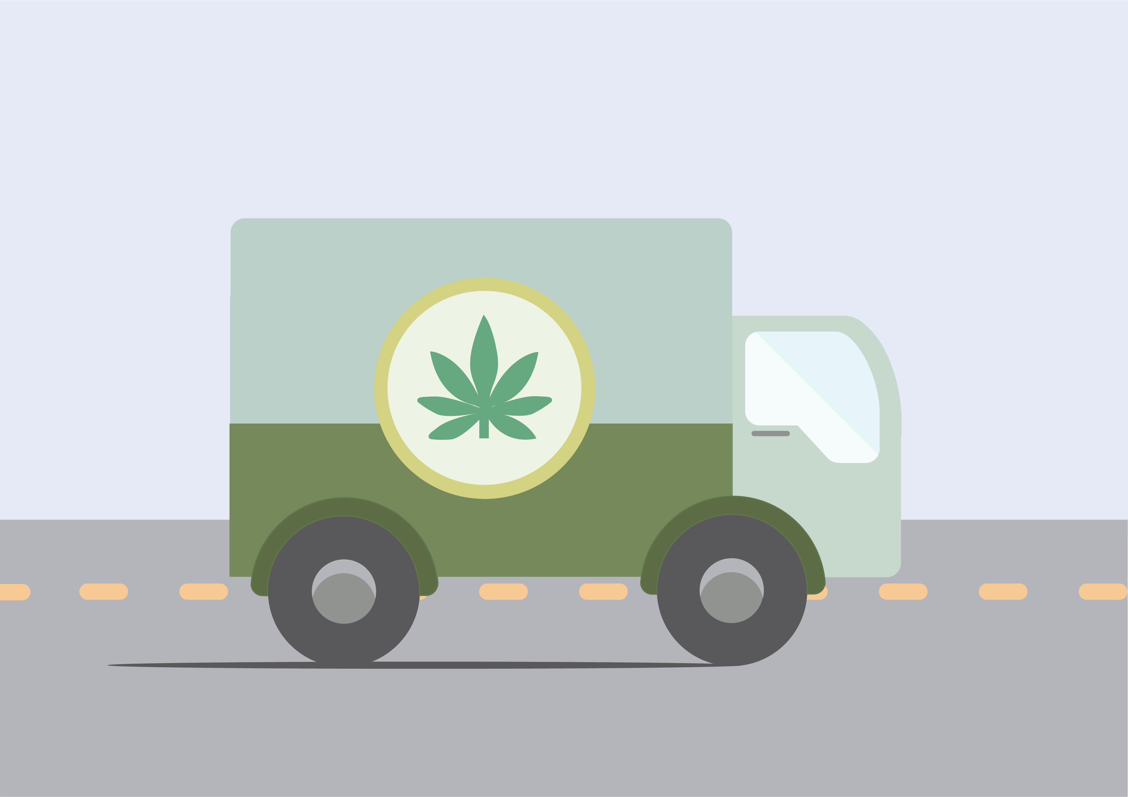 Cannabis out for delivery