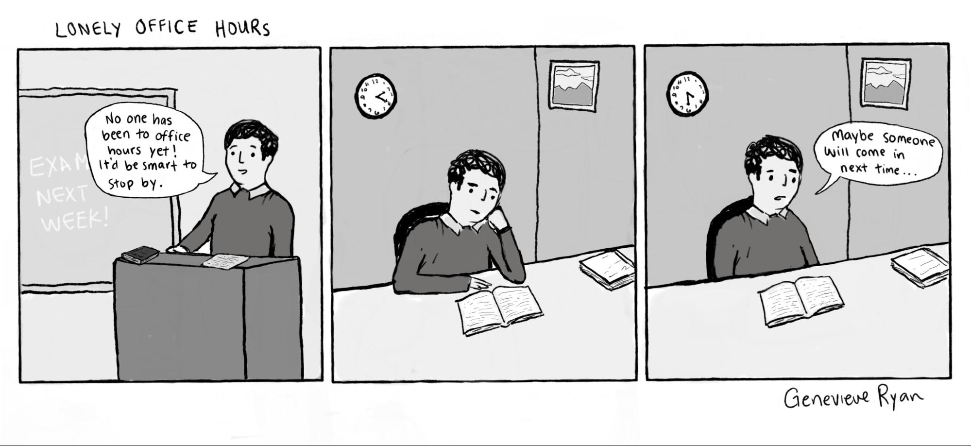 Cartoon: Lonely Office Hours