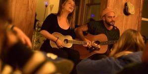 Living room tour stops in Davis